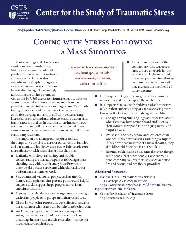 Home — Center for the Study of Traumatic Stress